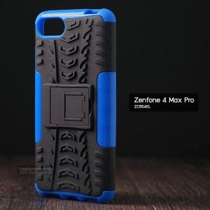 เคส Zenfone 4 Max Pro (ZC554KL) กรอบบั๊มเปอร์ กันกระแทก Defender สีน้ำเงิน (เป็นขาตั้งได้)