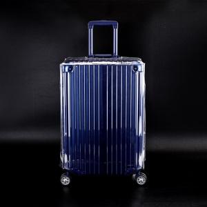 (ขอบใส ขนาด 20 นิ้ว) ผ้าคลุมกระเป๋าเดินทางใส ขนาด 20 นิ้ว ผลิตจาก PVC ใส หนา ไม่มีตะเข็บ ตีนตุ๊กแกใหญ่