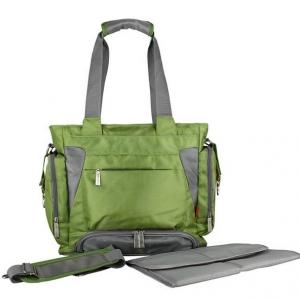 Ecosusi กระเป๋าสัมภาระคุณแม่ สะพายได้ แถมผ้ารองเปลี่ยนผ้าอ้อม ผลิตจากไนล่อนคุณภาพสูง ทนทาน ช่องใส่ของเยอะ (สีเขียว)