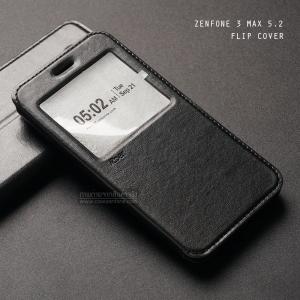 เคส Zenfone 3 Max ZC520TL (5.2 นิ้ว) เคสฝาพับหนัง PU แบบพิเศษ สีดำ