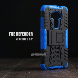 เคส Zenfone 3 ( ZE520KL ) กรอบบั๊มเปอร์ กันกระแทก Defender สีน้ำเงิน (เป็นขาตั้งได้)