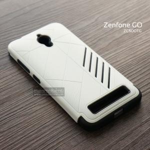 เคส Zenfone GO (ZC500TG) เคสนิ่ม HYBRID 2 ชั้น ขอบหนาลดแรงกระแทก สีขาว