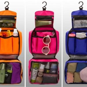 กระเป๋าใส่อุปกรณ์ห้องน้ำ ใส่อุปกรณ์อาบน้ำ สำหรับเดินทาง ท่องเที่ยว แขวนได้ กันน้ำ แข็งแรง ทนทาน