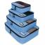 ชุดจัดกระเป๋าเดินทางคุณภาพดีมาก 4 ใบต่อชุด ใส่เสื้อผ้า ชั้นใน ถุงเท้า เข็มขัด (ฺBlue) (Ecosusi 4 Set Packing Cubes Travel Organizers) thumbnail 3