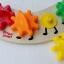 จิ๊กซอตัวหนอนจับคู่สี สร้างเฟืองหมุนต่อกัน Rainbow Caterpilar Gear Toy thumbnail 8