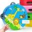 แทมบูรินไม้เคาะจังหวะสำหรับเด็ก การ์ตูนคละลาย - Tambourine musical educational toy thumbnail 1