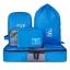 Ecosusi ชุดจัดกระเป๋าเดินทาง 4 ใบ กันน้ำ พกพาสะดวก ใส่เสื้อผ้า, อุปกรณ์ไอที, อุปกรณ์น้ำ และรองเท้า (สีฟ้า) thumbnail 2