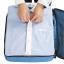 ชุดจัดกระเป๋าเดินทางคุณภาพดีมาก 4 ใบต่อชุด ใส่เสื้อผ้า ชั้นใน ถุงเท้า เข็มขัด (ฺBlue) (Ecosusi 4 Set Packing Cubes Travel Organizers) thumbnail 4