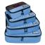 ชุดจัดกระเป๋าเดินทางคุณภาพดีมาก 4 ใบต่อชุด ใส่เสื้อผ้า ชั้นใน ถุงเท้า เข็มขัด (ฺBlue) (Ecosusi 4 Set Packing Cubes Travel Organizers) thumbnail 2