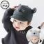 หมวกแก็ปเด็กเล็ก หมาน้อย สีดำ/เทา ดีไซน์เกาหลีเท่ๆ thumbnail 1