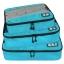 ชุดจัดกระเป๋าเดินทางคุณภาพดีมาก 3 ใบต่อชุด ใส่เสื้อ, กางเกง, กระโปรง, ผ้าขนหนู (Ecosusi 3 Set Packing Cubes - Travel Organizers) thumbnail 4