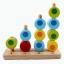 ของเล่นไม้ สวมหลัก นับเลข เรียงสี 4 เสา thumbnail 1