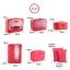 ชุดจัดกระเป๋าเดินทาง 7 ใบ จัดกระเป๋าเดินทาง ท่องเที่ยว ใส่เสื้อผ้า ชุดชั้นใน อุปกรณ์ห้องน้ำ กางเกงใน รองเท้า ถุงเท้า เครื่องสำอาง อุปกรณ์ไอที (Hot Pink) thumbnail 7
