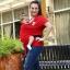 ผ้าอุ้มทารก เป้ผ้าอุ้มเด็ก Moby Wrap เบาสบาย กระจายน้ำหนัก thumbnail 18