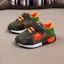 รองเท้าคัชชูเด็กเล็ก 0-2 ปี ทรงเท่ ลายพรางตาข่ายสีเขียว-ส้ม (เท้ายาว 11-13 ซม.) thumbnail 1