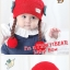 หมวกเด็กอ่อนไหมพรม Tianyi Bear ดีไซน์เปียทวิตไหมสองข้างน่ารักโดดเด่น thumbnail 3