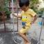 ชุดเด็กมินเนี่ยน เสื้อยืด+กางเกงขาสั้นเอวยางยืด สำหรับเด็กวัย 2-8 ปี thumbnail 2