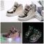 รองเท้าคัชชูเด็กหญิงตัวน้อย สีทองเมทัลลิค มีไฟ+เรืองแสง Size 21-25 thumbnail 1