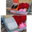 กระเป๋าใส่รองเท้า เสียบกระเป๋าเดินทางได้ ผลิตจากโพลีเอสเตอร์กันน้ำ + ตาข่าย คุณภาพดี มี 6 สี ให้เลือก thumbnail 5