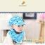 Set หมวกเด็กอ่อน+ผ้ากันเปื้อนสามเหลี่ยม Yummy Vegetable วัย 3-24 เดือน thumbnail 4