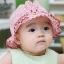 หมวกเด็กหญิง ลายกระต่าย ผูกหลัง สำหรับเด็ก 6-24 เดือน thumbnail 2