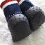 รองเท้าถุงเท้าพื้นยางหัดเดิน ลายรองเท้ากีฬา สีดำ size 19-23 thumbnail 4