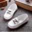 รองเท้าคัทชูเด็กหนัง PU สีขาว ประดับโลหะตัวอักษร Z มี Size 21-36 thumbnail 3