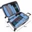 ชุดจัดกระเป๋าเดินทางคุณภาพดีมาก 4 ใบต่อชุด ใส่เสื้อผ้า ชั้นใน ถุงเท้า เข็มขัด (ฺBlue) (Ecosusi 4 Set Packing Cubes Travel Organizers) thumbnail 8