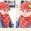 Set หมวกเด็กอ่อน+ผ้ากันเปื้อนสามเหลี่ยม Yummy Vegetable วัย 3-24 เดือน thumbnail 8