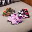 รองเท้าคัชชูเด็กเล็ก 0-2 ปี ทรงเท่ ลายพรางตาข่ายสีเขียว-ส้ม (เท้ายาว 11-13 ซม.) thumbnail 4