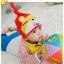 AP176••เซตหมวก+ผ้ากันเปื้อน•• / หมี [สีเหลือง+แดง] thumbnail 1