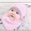 เซตหมวก+ผ้าซับน้ำลาย / ลาย Lovely Baby (มี 6 สี) thumbnail 8