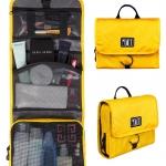 กระเป๋าใส่อุปกรณ์ห้องน้ำ คุณภาพสูง ใส่อุปกรณ์เครื่องสำอาง แขวนได้ สำหรับเดินทาง ท่องเที่ยว (สีเหลือง)