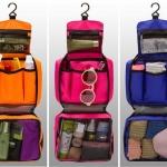 กระเป๋าใส่อุปกรณ์ห้องน้ำ/ใส่อุปกรณ์เครื่องสำอาง สำหรับเดินทาง ท่องเที่ยว แขวนได้ กันน้ำ แข็งแรง ทนทาน