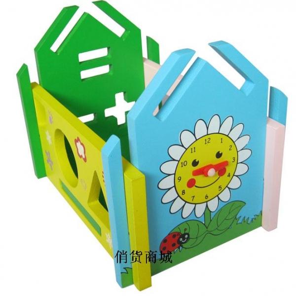รูปภาพสินค้า ของเล่นไม้ บ้านกิจกรรมหยอดบล็อค เสริมพัฒนาการ